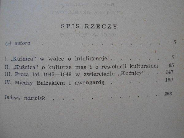 Zbigniew Żabicki • Kuźnica i jej program literacki