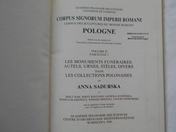 Anna Sadurska • Corpus signorum imperii romani