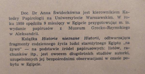 Anna Świderek Historie nieznane historii
