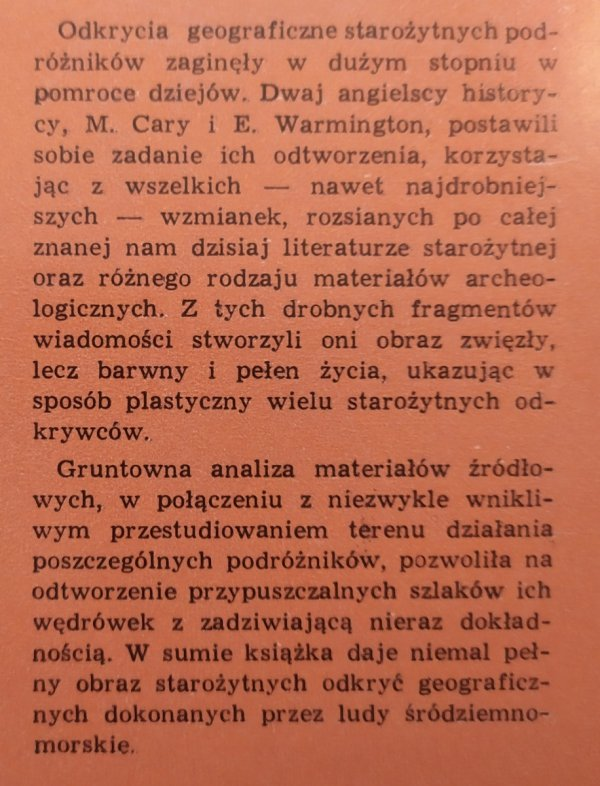 M.Cary, E.H.Warmington • Starożytni odkrywcy
