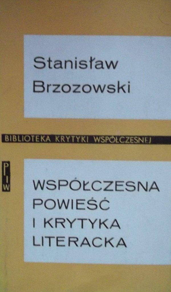 Stanisław Brzozowski • Współczesna powieść i krytyka literacka