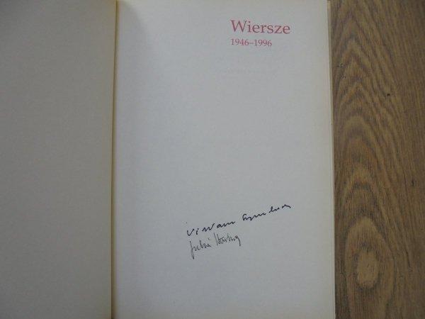 Artur Międzyrzecki • Wiersze 1946-1996 [autografy: Wisława Szymborska i Julia Hartwig]