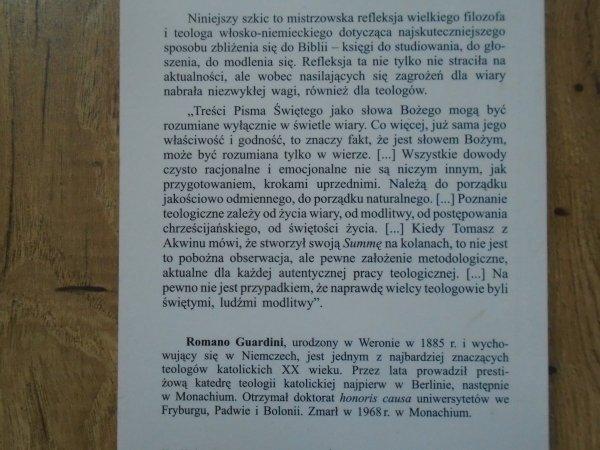 Romano Guardini • Pismo Święte i nauka wiary. Poznanie duchowe, które otrzymuje się w darze