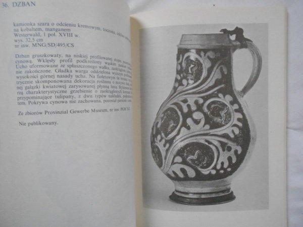 Kamionka. Katalog zbioru Muzeum Narodowego w Gdańsku • Kufle, dzbany, dzbanki
