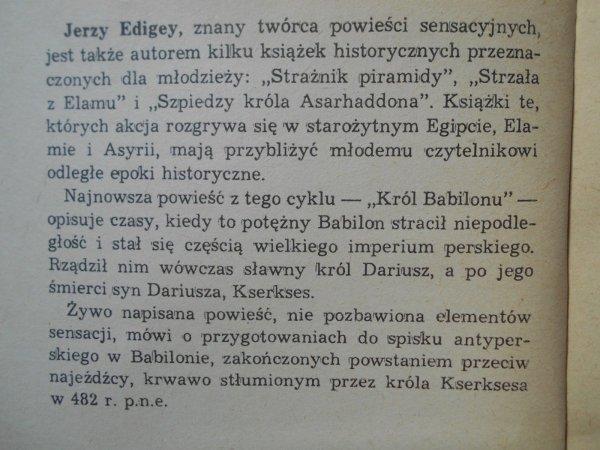 Jerzy Edigey • Król Babilonu