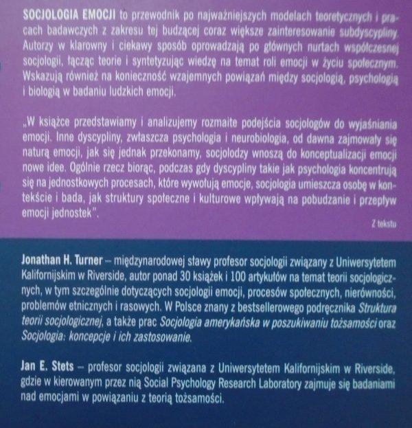 Jonathan H. Turner, Jan E. Stets • Socjologia emocji