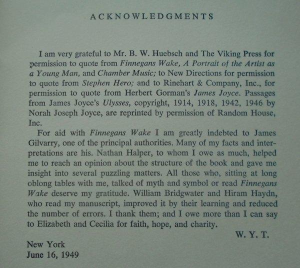 W.Y.Tindall • James Joyce. His Way of Interpreting the Modern World