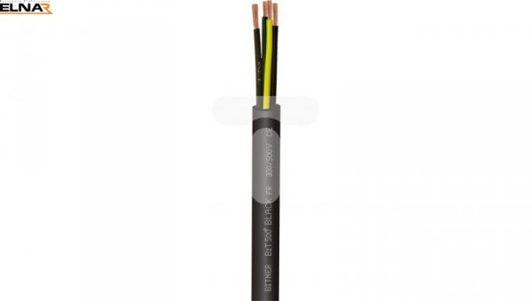 Przewód sterowniczy BiT 500 2x1 Black FR SB1861 /bębnowy/
