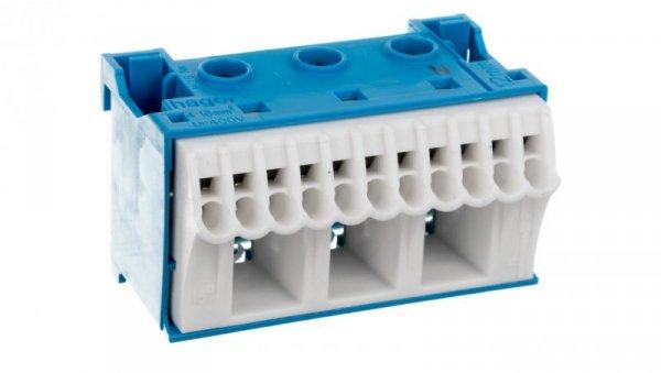 Blok samozacisków 63A QC niebieski 14 przyłączy 33x60x34mm KN14N