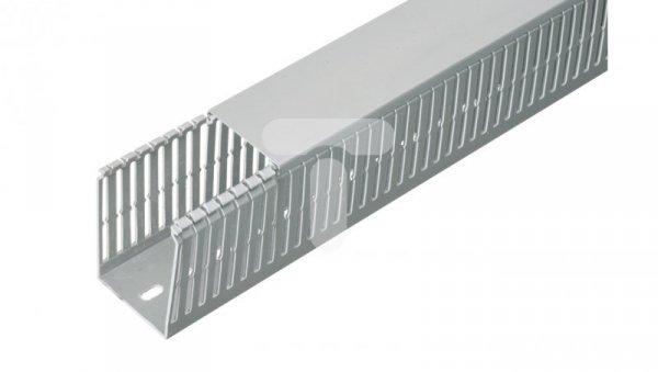 Korytko grzebieniowe bezhalogenowe z pokrywą SH80x80 szare /2m/ ECSH8080