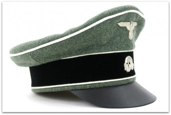 MC017 OFICERSKA CZAPKA TYPU CRUSHER WAFFEN-SS PIECHOTA - SUKNO