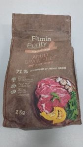 Fitmin Dog Purity Adult Grain Free Beef 2kg