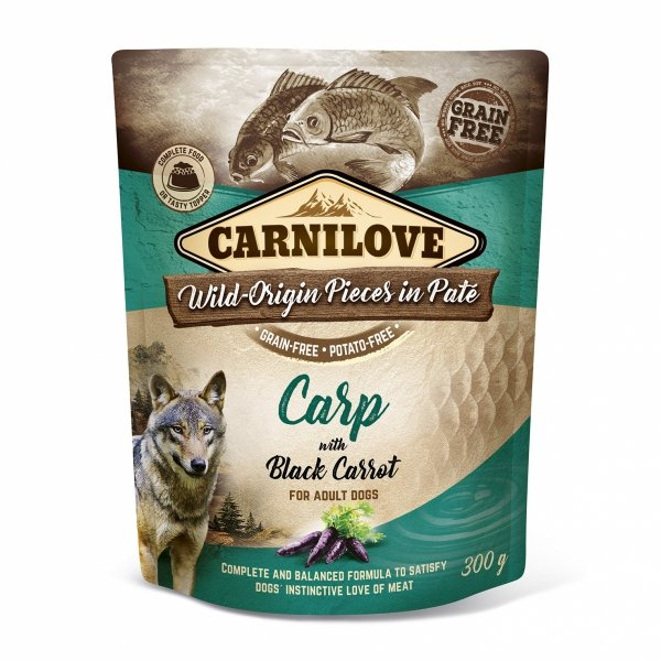 CARNILOVE DOG POUCH CARP&BLACK CARROT  300g
