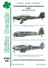 Exito ED72004 DECALS Luftwaffe Ground Attackers vol.1 - Ju 87 D-3, Hs 129, Fw 190F-8 1/72