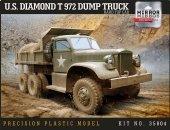 Mirror Model 35804 U.S. Diamond T 972 Dump Truck Hard Top Cab 1/35
