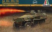 Italeri 7067 Sd. Kfz. 251/16 Flammpanzerwagen (1:72)