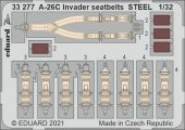 Eduard 33277 A-26C Invader seatbelts STEEL for HOBBY BOSS 1/32