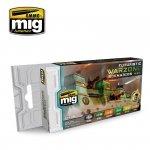 AMMO of Mig Jimenez 7154 Futuristic Warzone Scenarios - Acrylic Paint Set (6x17ml)