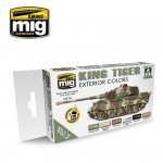 Ammo of Mig Jimenez 7166 KING TIGER EXTERIOR COLOR (SPECIAL TAKOM EDITION) VOL.2 6x17ml