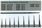 Italeri 51286 1 Synthetic round brush with brown tip