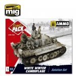 AMMO of Mig Jimenez 7803 - Super Pack White Winter Camouflage - Solution Set - Zestaw do weatheringu