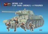 Hobby Fan HF588 T-34 TANK CREW(1)-4 FIGURES