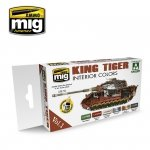 Ammo of Mig Jimenez 7165 KING TIGER INTERIOR COLOR (SPECIAL TAKOM EDITION) VOL.1 6x17ml