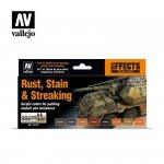 Vallejo 70183 Model Color - Rust, Stain & Streaking Set 8x17ml