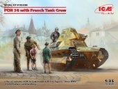 ICM 35338 FCM 36 with French Tank Crew 1/35