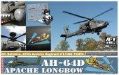 AFV Club AR72S01 AH-64D Apache Longbow 8th Batalion 229th Aviation Regiment (Flying Tiger) 1/72