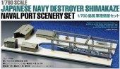 Tamiya 25417 Japanese Destroyer Shimakaze / Naval Port Scenery Model Set 1/700