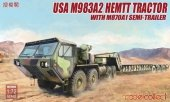 Modelcollect UA72083 USA M983A2 HEMTT Tractor with M870A1 Semi-Trailer 1/72