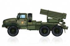 Hobby Boss 82931 Russian BM-21 Grad Multiple Rocket Launcher 1/72