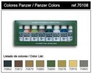 Vallejo Panzer Colors (8 color set) (70108)