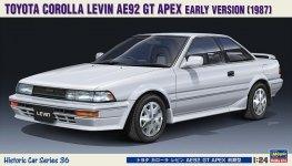 Hasegawa HC36 Toyota Corolla Levin AE92 GT Apex Early Version (1987) 1/24