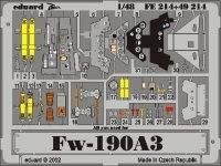 Eduard FE214 Fw 190A-3 1:48 Tamiya