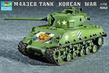 Trumpeter 07229 M4A3E8 TANK (T80 Track) (1:72)