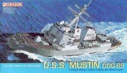 Dragon 7044 U.S.S. Mustin DDG-89, Arleigh Burke Class Flight IIA Destroyer 1/700