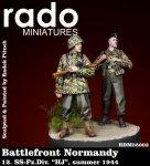 RADO Miniatures RDM35003 Battlefront Normandy 12. SS Pz.Div. HJ summer 1944 (two figures) 1/35