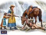 Master Box 35203 Outlaw. Gunslinger #1: Marshal Tom Tucker, Molly and Rebecca Hanson 1/35
