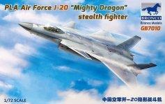 Bronco GB7010 PLA Air Force J-20A Stealthfighter 1/72