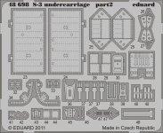 Eduard 48698 S-3 undercarriage 1/48 Italeri