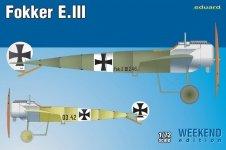 Eduard 7444 Fokker E. III 1/72