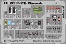 Eduard FE197 P-47D placards 1:48