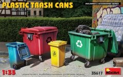 Miniart 35617 PLASTIC TRASH CANS 1/35