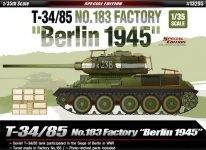 Academy 13295 T-34/85 No.183 Factory Berlin 1945