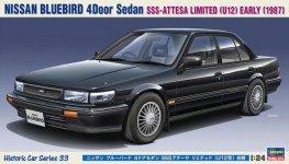 Hasegawa HC33 Nissan Bluebird 4Door Sedan SSS-Attesa Limited (U12) Early (1987) 1/24