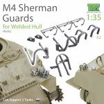 T-Rex Studio TR35022 M4 Sherman Guards Set (for Welded Hull) can support 2 tanks 1/35