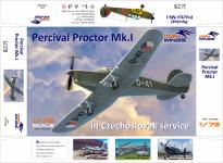 Dora Wings 72003 Percival Proctor Mk.1 Czechoslovakia 1/72