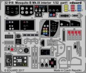Eduard 32918 Mosquito B Mk. IX interior HK MODELS 1/32